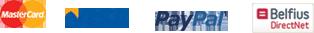 MasterCard - VISA - PayPal - Belfius DirectNet