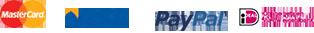 MasterCard - VISA - PayPal - iDEAL